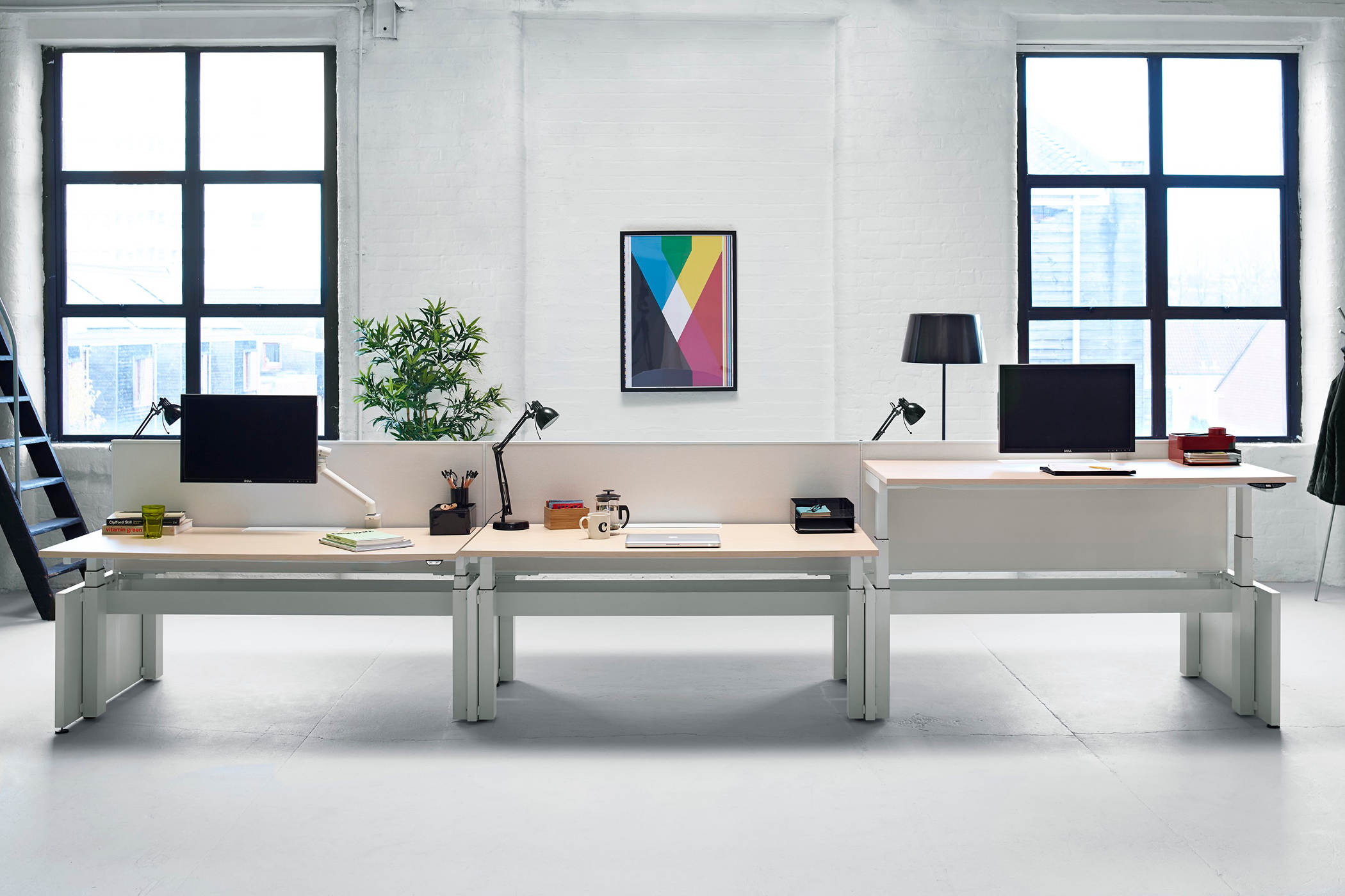 Herman miller layout studio exchange complete werkplekopstelling - Layouts hoogte ...