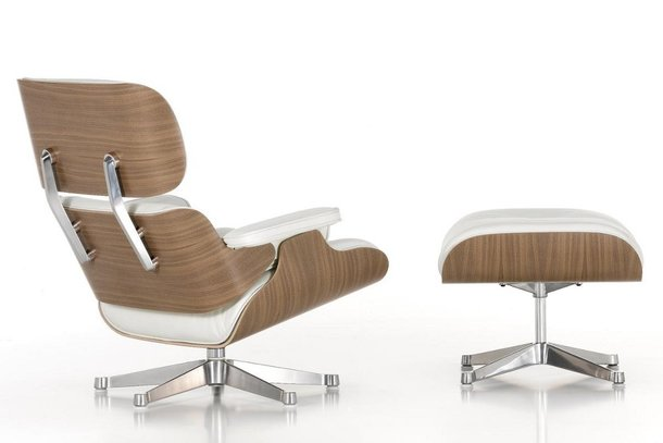 Vitra Lounge Chair en poef