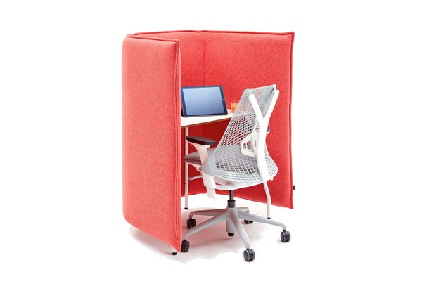 Naughtone Cloud Desk rood