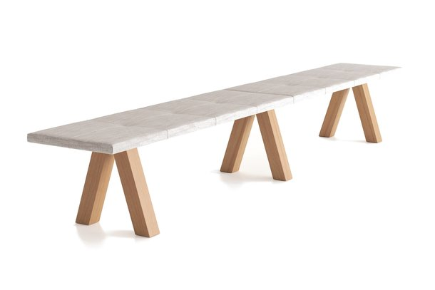 Viccarbe Trestle Bench